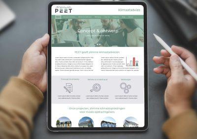 PEET klimaatadvies website