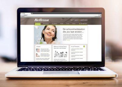 Bellezza schoonheidssalon website en spandoek
