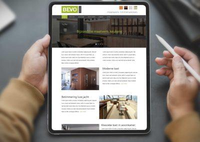 BEVO interieur website en huisstijl