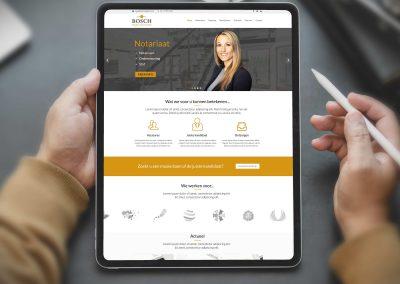 Westerveld & Van de Bosch website en huisstijl