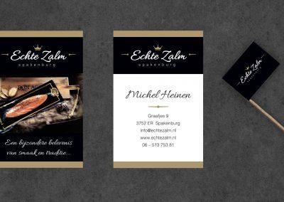 Echte Zalm logo, huisstijl, webshop