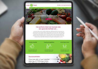 Inner Food logo, huisstijl, website