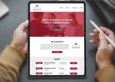 Intervisie Advocatuur logo en website