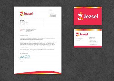Jezsel transport logo, huisstijl, website
