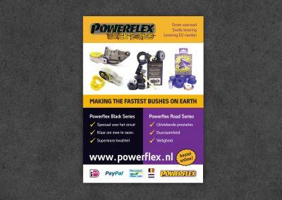 Powerflex webshop en flyer