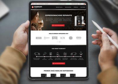 Rubinati logo, huisstijl, website en business applicaties