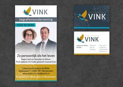 Vink Begrafenisonderneming, logo, huisstijl, advertentie en website